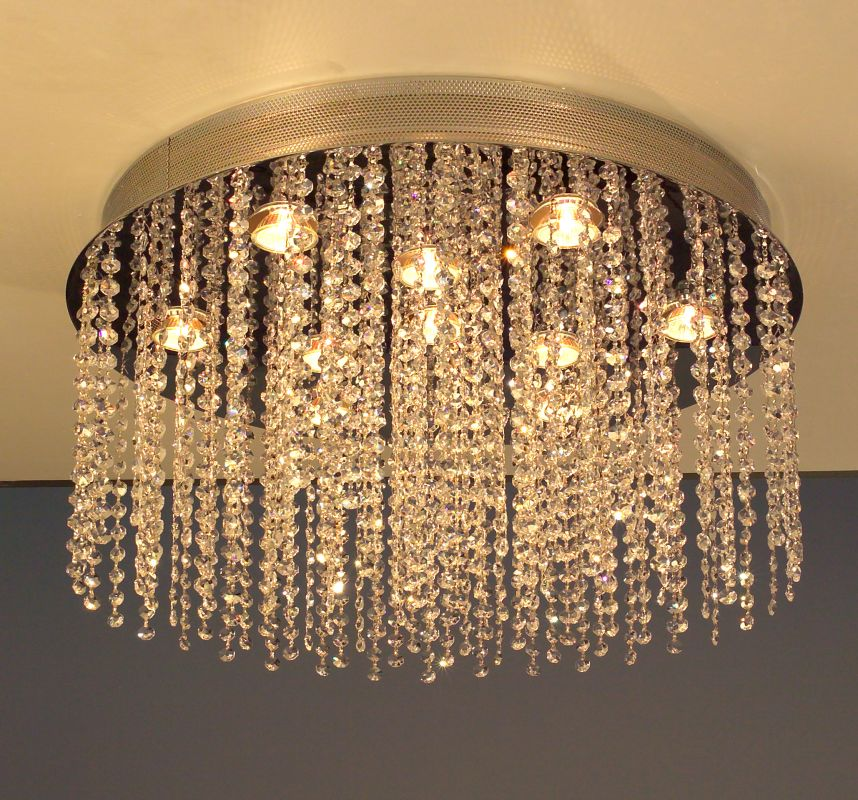 "Classic Lighting 16121-CH 12"" Crystal Chandelier / Flush from the"