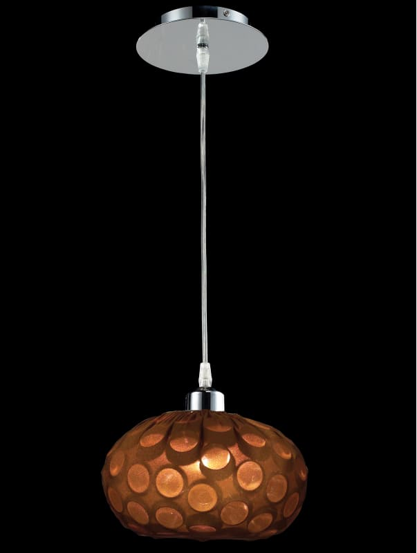 Classic Lighting 16151 CH Laguna 1 Light Pendant with Metal Shade