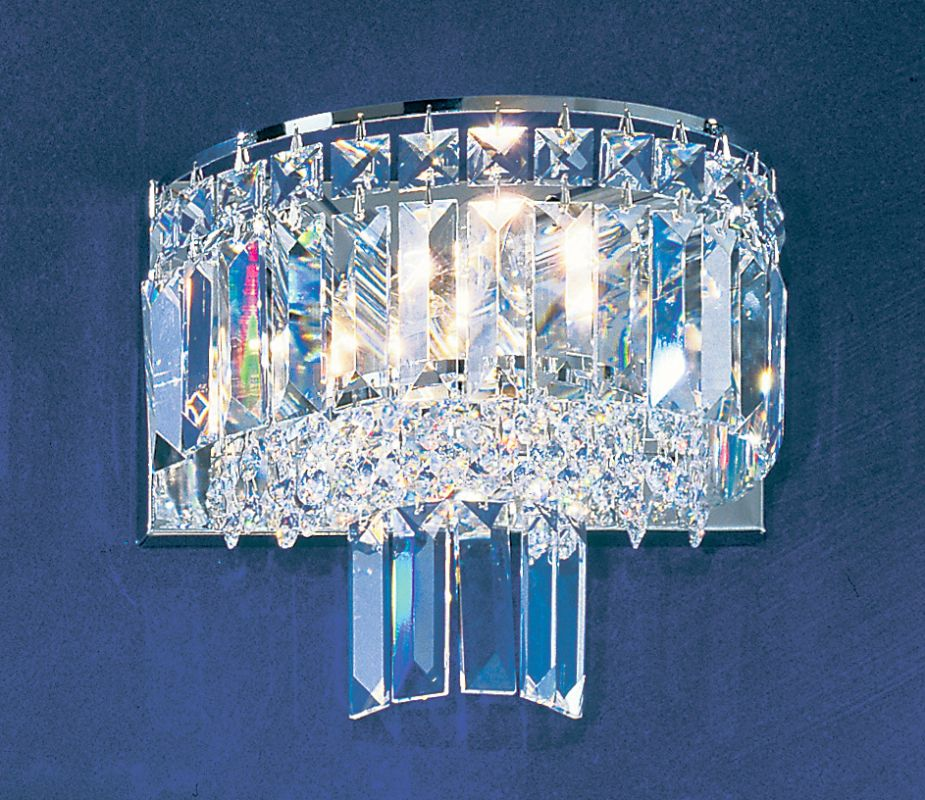 "Classic Lighting 1623-CH 9"" Crystal Sconces from the Ambassador"
