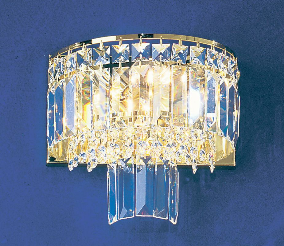 "Classic Lighting 1623-G 9"" Crystal Sconces from the Ambassador"