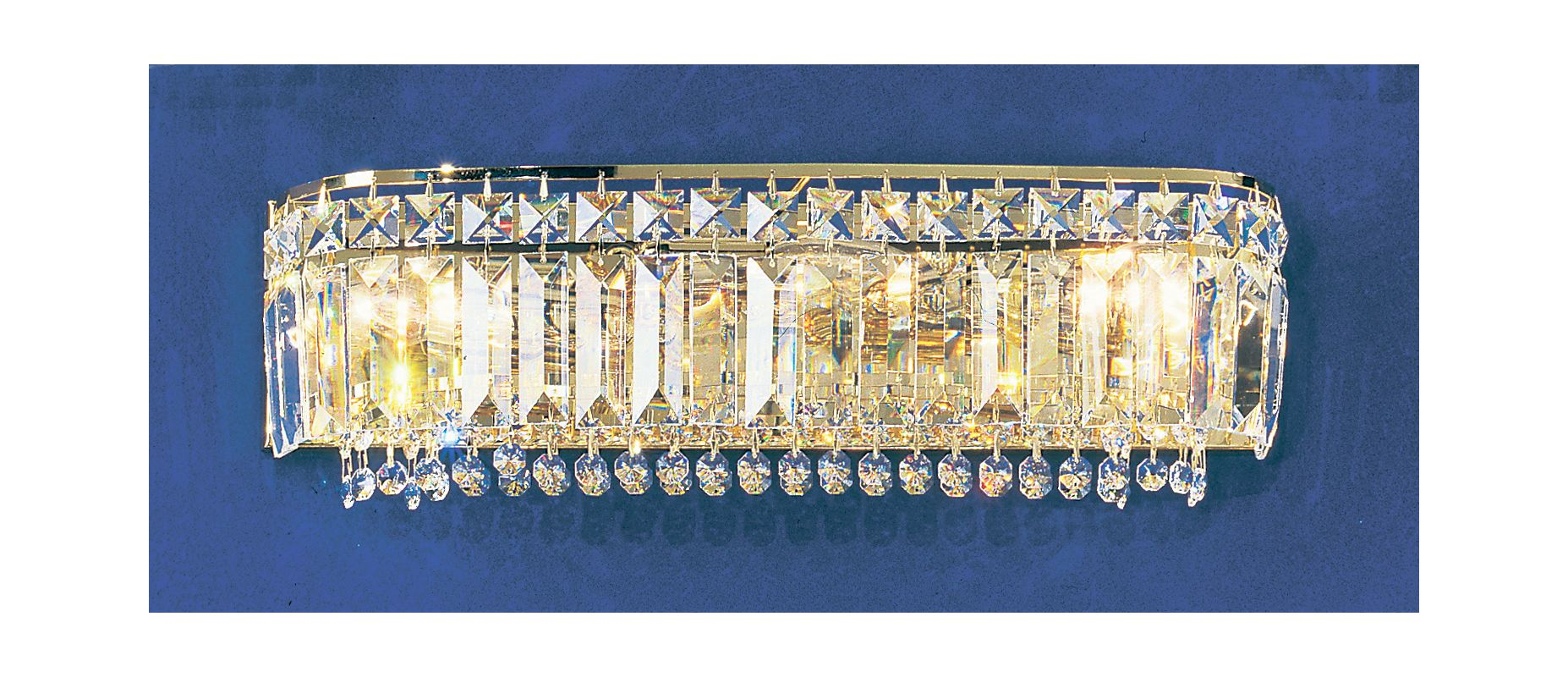 "Classic Lighting 1624-G 6"" Crystal 3 Light Vanity from the Ambassador"