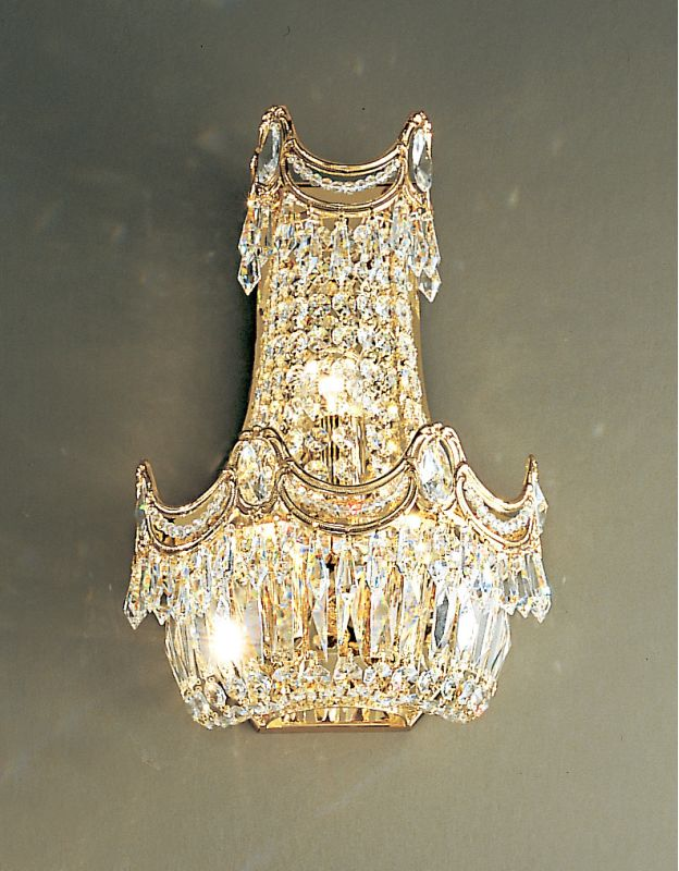 """Classic Lighting 1810-G 14"""" Crystal Sconces from the Regency"""
