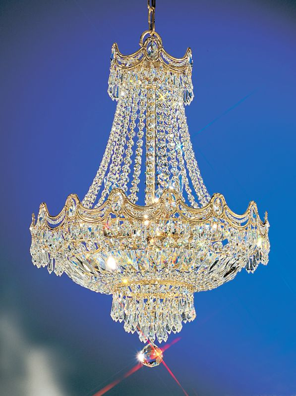 "Classic Lighting 1815-G 29"" Crystal Chandelier from the Regency"