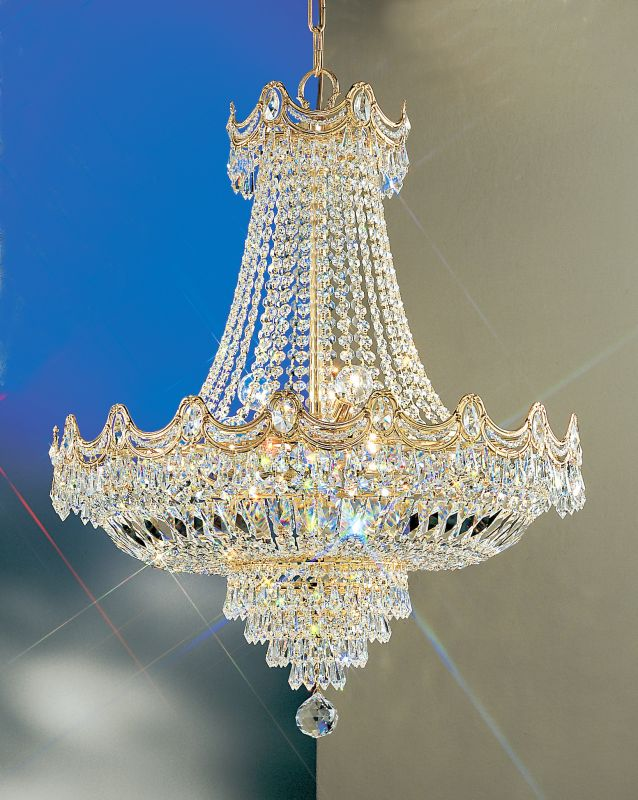 "Classic Lighting 1816-G 32"" Crystal Chandelier from the Regency"