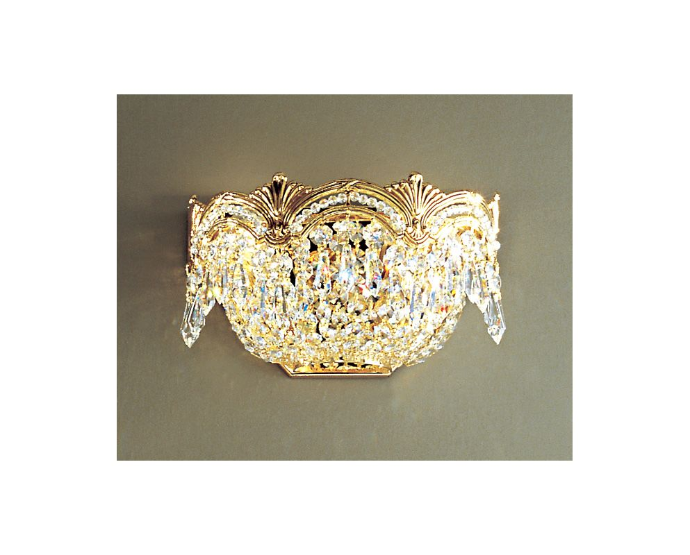 """Classic Lighting 1850-G 6"""" Crystal Sconces from the Regency II"""