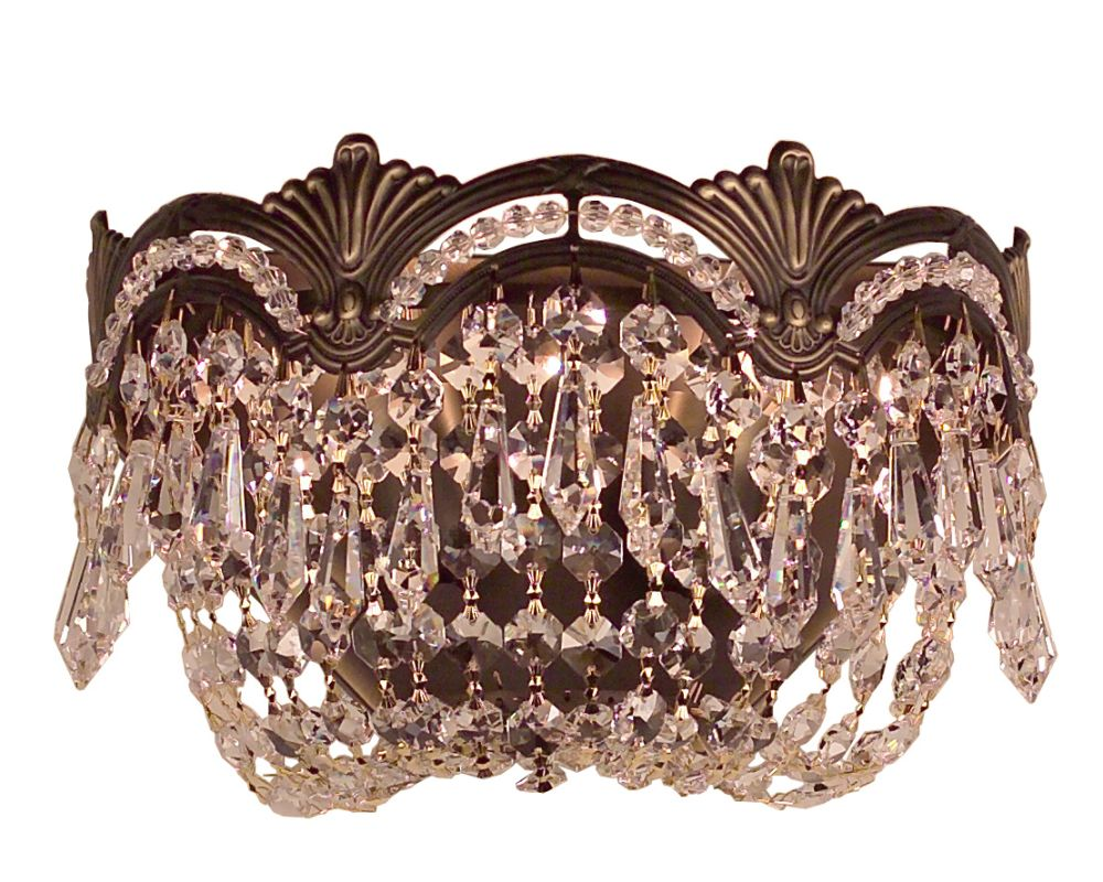 "Classic Lighting 1850-RB 6"" Crystal Sconces from the Regency II"