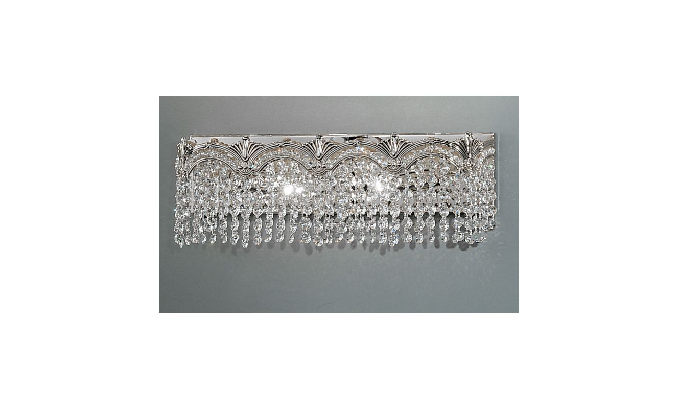 "Classic Lighting 1851-CHB 6.5"" Crystal 2 Light Vanity from the Regency"