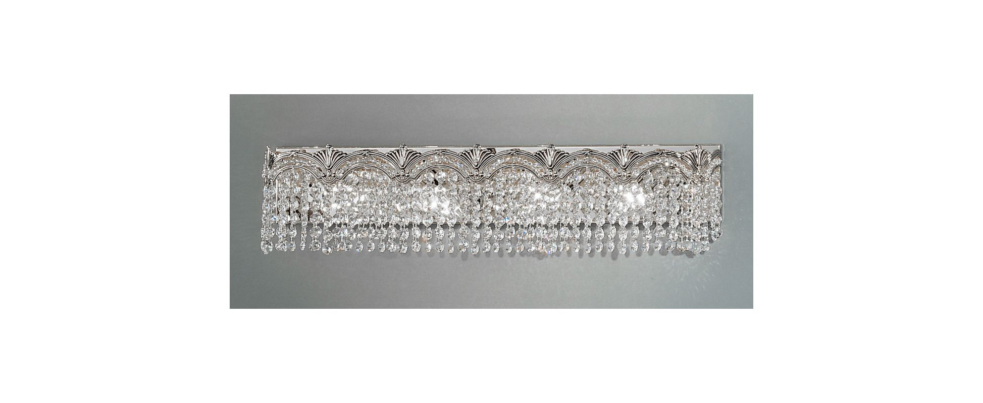"Classic Lighting 1852-CHB 6.5"" Crystal 4 Light Vanity from the Regency"