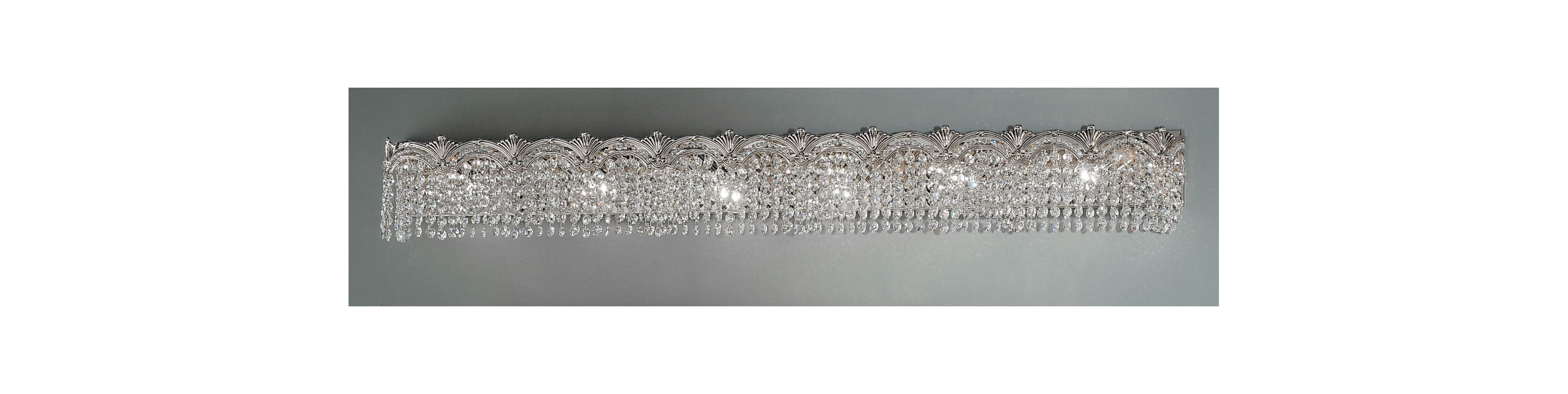 "Classic Lighting 1854-CHB 6.5"" Crystal 6 Light Vanity from the Regency"