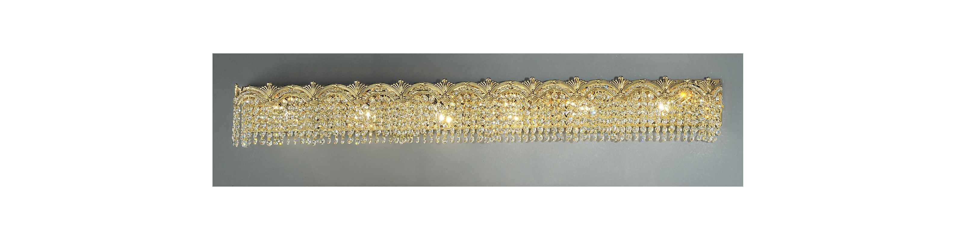 "Classic Lighting 1854-G 6.5"" Crystal 6 Light Vanity from the Regency"