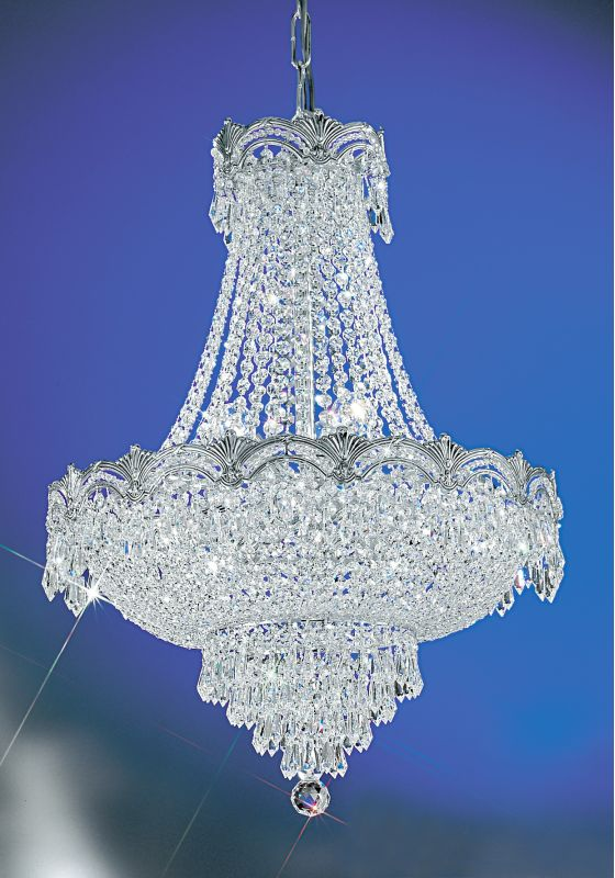"Classic Lighting 1855-CHB 29"" Crystal Chandelier from the Regency II"