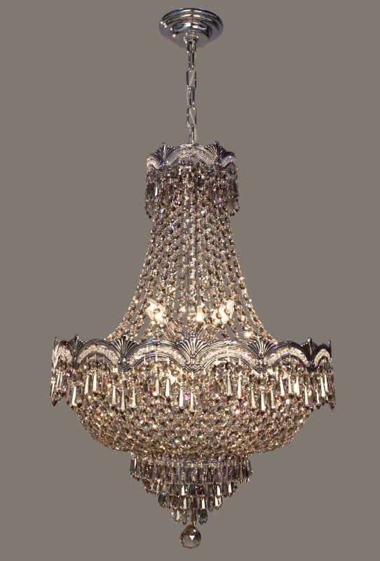 "Classic Lighting 1855-CHB 29"" Crystal Chandelier from the Regency II Sale $2475.00 ITEM: bci1304810 ID#:1855 CHB SMK UPC: 729587317584 :"