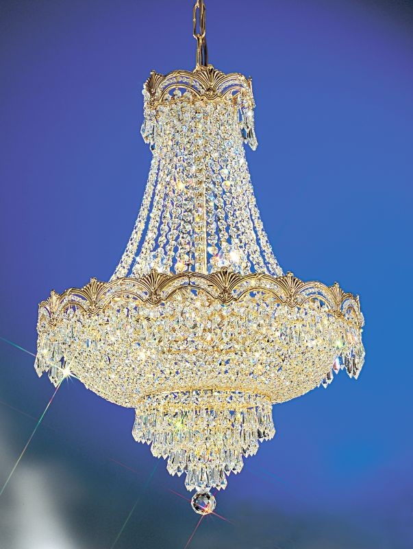 "Classic Lighting 1855-G 29"" Crystal Chandelier from the Regency II"