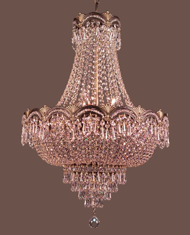 "Classic Lighting 1855-RB 27"" Crystal Chandelier from the Regency II"