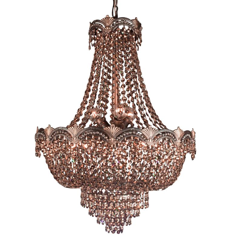"""Classic Lighting 1855-RB 27"""" Crystal Chandelier from the Regency II"""