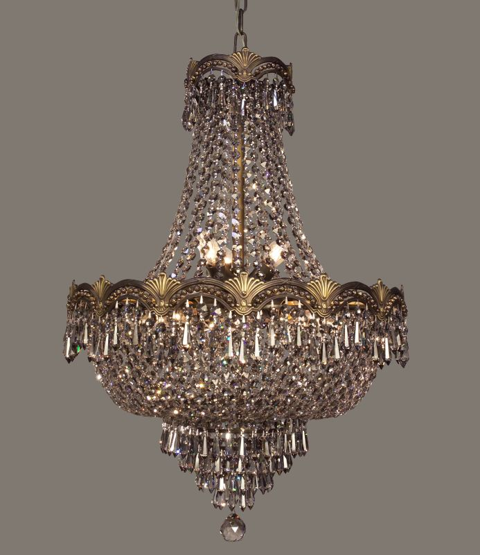 """Classic Lighting 1855-RB 27"""" Crystal Chandelier from the Regency II Sale $2475.00 ITEM: bci1304813 ID#:1855 RB SMK UPC: 729587317690 :"""