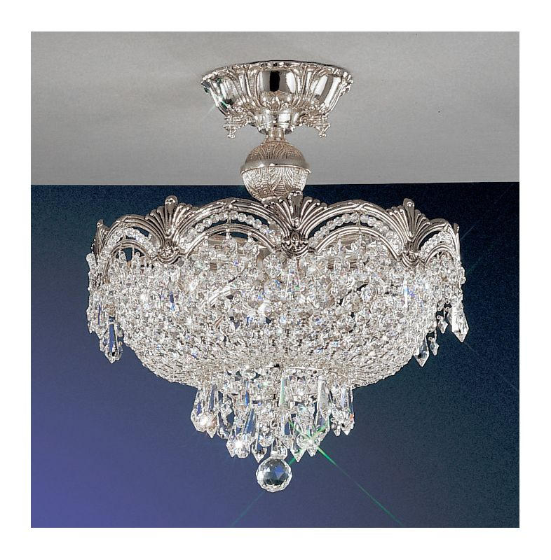 "Classic Lighting 1856-CHB 15"" Crystal Semiflush from the Regency II"