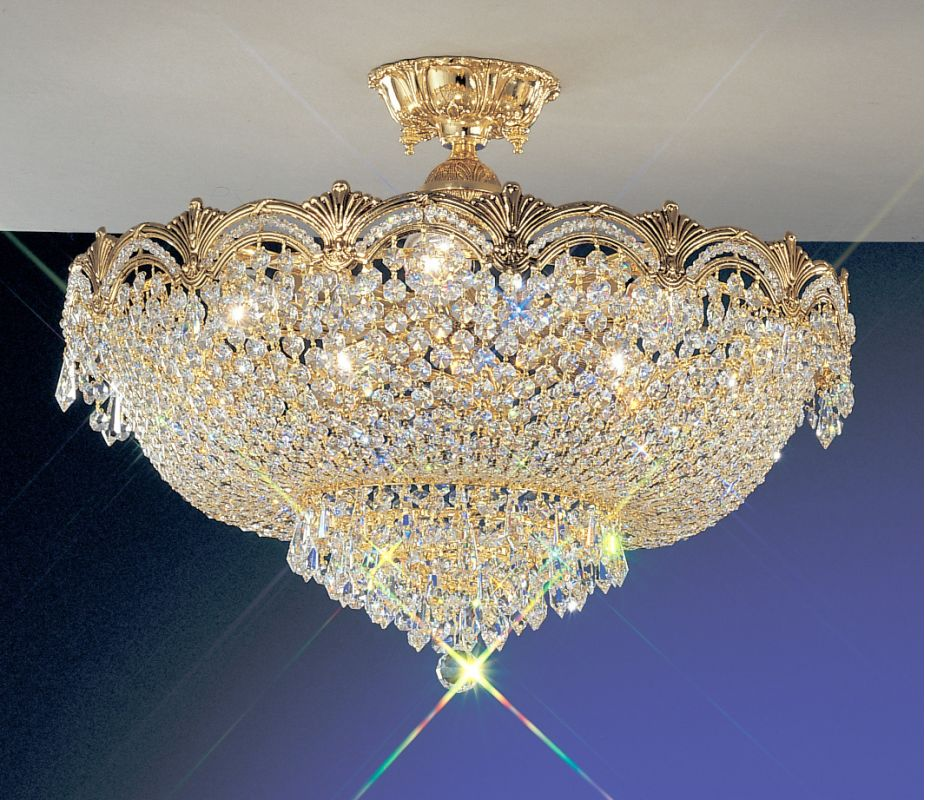 "Classic Lighting 1857-G 20"" Crystal Semiflush from the Regency II"