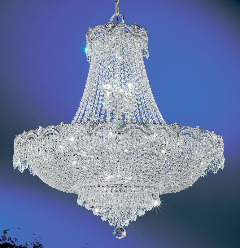 "Classic Lighting 1858-CHB 36"" Crystal Chandelier from the Regency II"