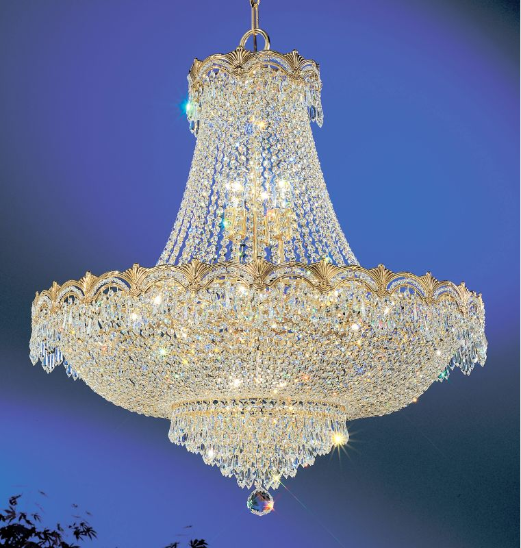 "Classic Lighting 1858-G 36"" Crystal Chandelier from the Regency II"