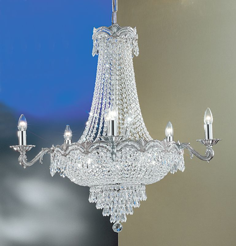 "Classic Lighting 1859-CHB 34"" Crystal Chandelier from the Regency II"