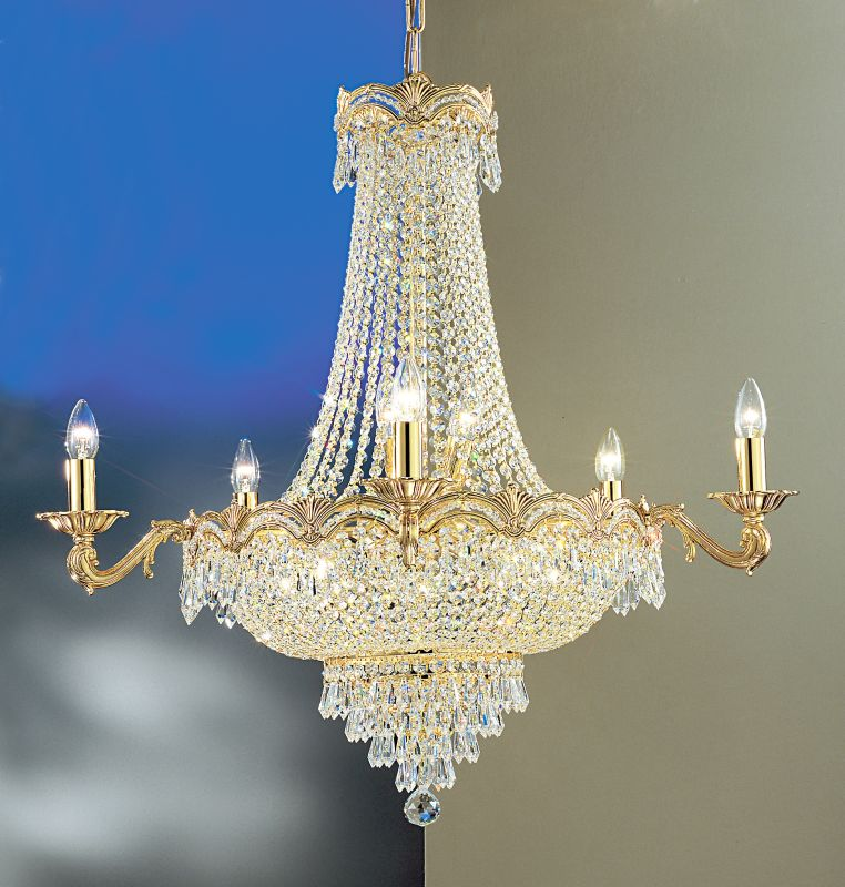 "Classic Lighting 1859-G 34"" Crystal Chandelier from the Regency II"