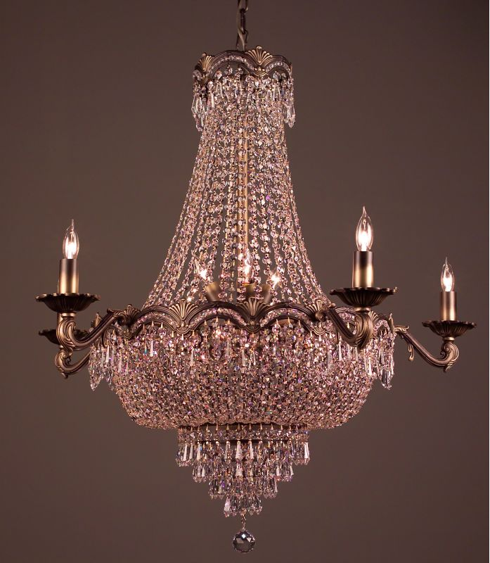 "Classic Lighting 1859-RB 32"" Crystal Chandelier from the Regency II"