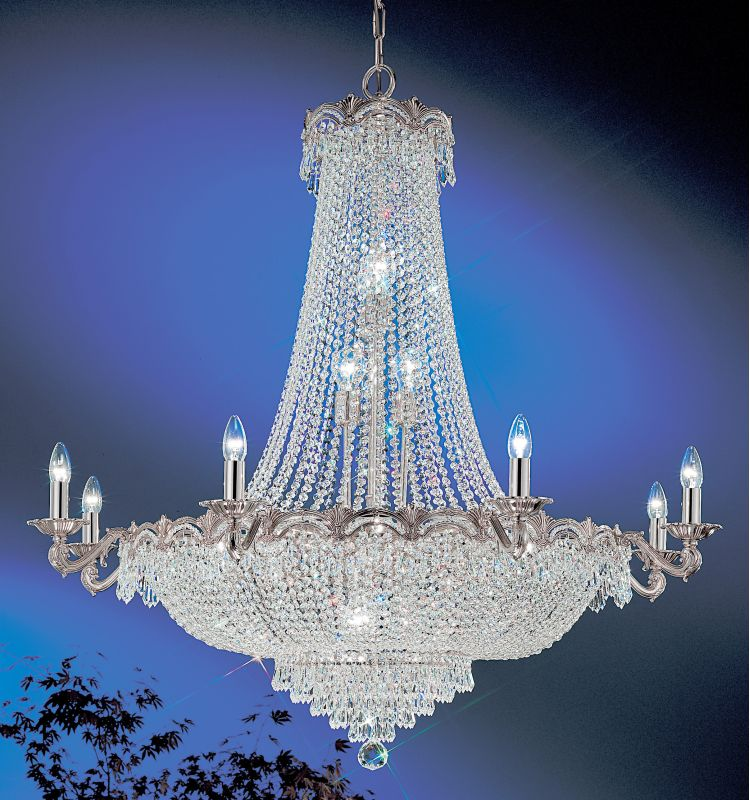 "Classic Lighting 1860-CHB 48"" Crystal Chandelier from the Regency II"