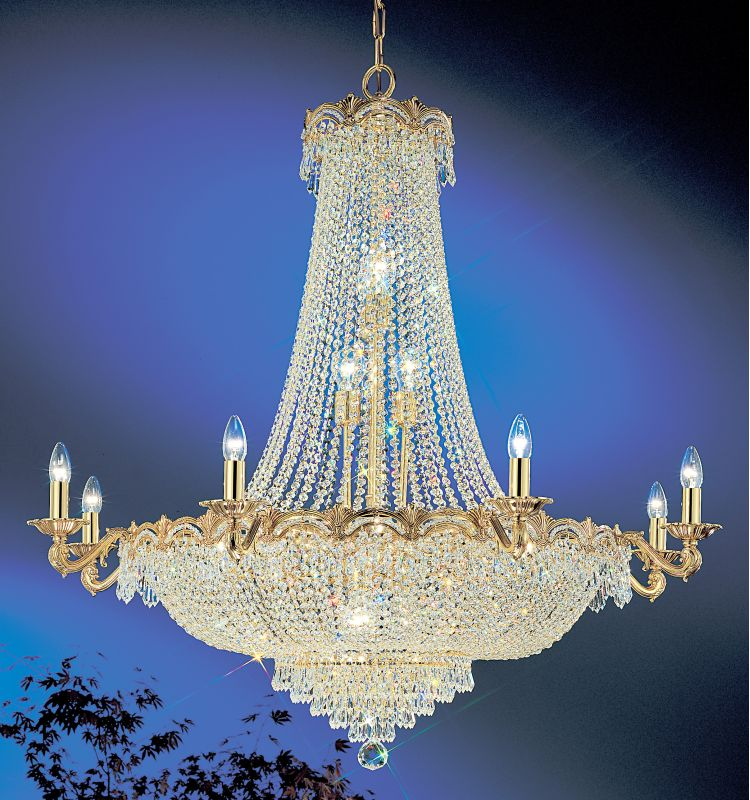 "Classic Lighting 1860-G 48"" Crystal Chandelier from the Regency II"