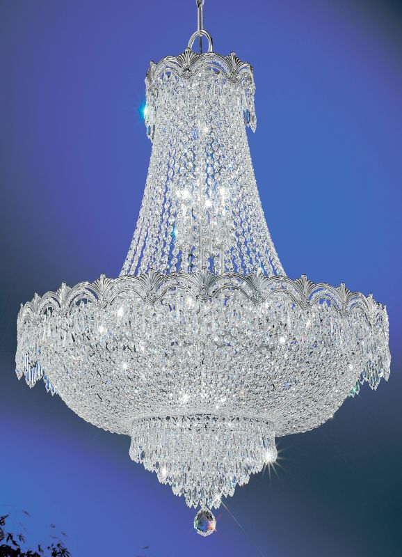 "Classic Lighting 1868-CHB 34"" Crystal Chandelier from the Regency II"