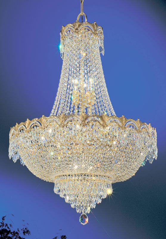 "Classic Lighting 1868-G 34"" Crystal Chandelier from the Regency II"