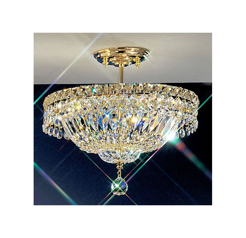 "Classic Lighting 1881-G 13"" Crystal Semiflush from the Princess"