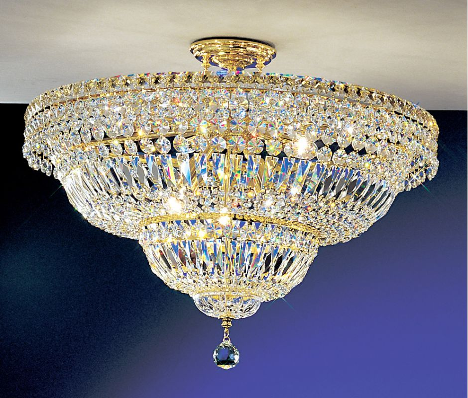 "Classic Lighting 1883-G 19"" Crystal Semiflush from the Princess"