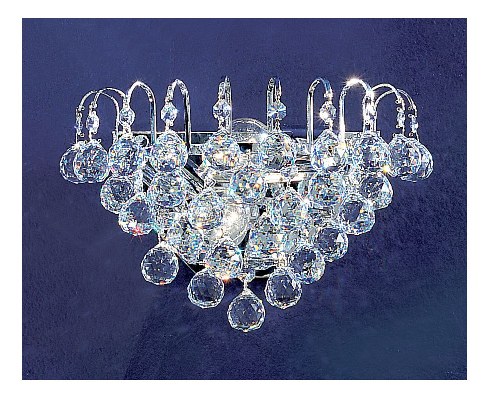 "Classic Lighting 1892-CH 7"" Crystal Sconces from the Diamante"