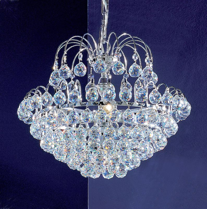 "Classic Lighting 1895-CH 13"" Crystal Chandelier from the Diamante"