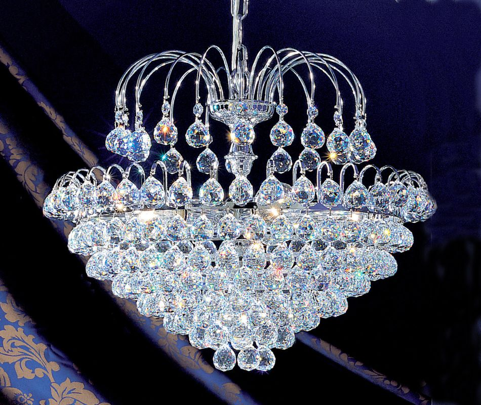 "Classic Lighting 1897-CH 19"" Crystal Chandelier from the Diamante"