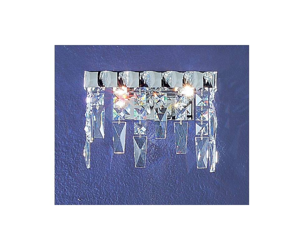 "Classic Lighting 1902-CH 7"" Crystal Sconces from the Uptown Collection"