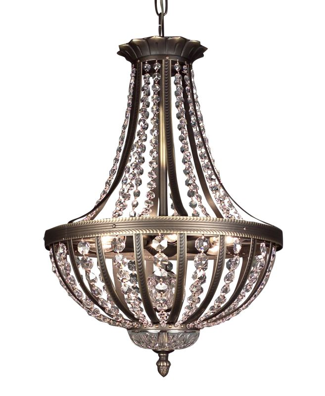 Classic Lighting 1924-RB Terragona 6 Light Pendant with Crystal