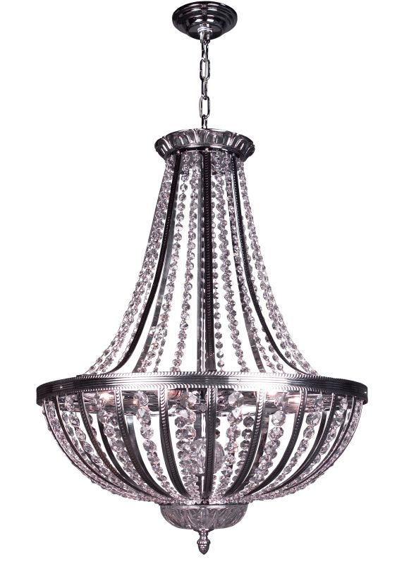 Classic Lighting 1925-CHB 31&quote Crystal Chandelier from the Terragona