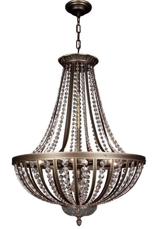 "Classic Lighting 1925-RB 31"" Crystal Chandelier from the Terragona"