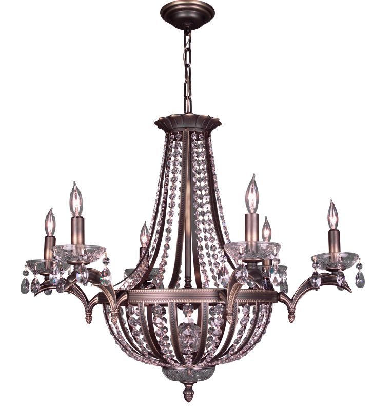 """Classic Lighting 1926-RB 26"""" Crystal Chandelier from the Terragona Sale $2817.00 ITEM: bci1305420 ID#:1926 RB SC :"""