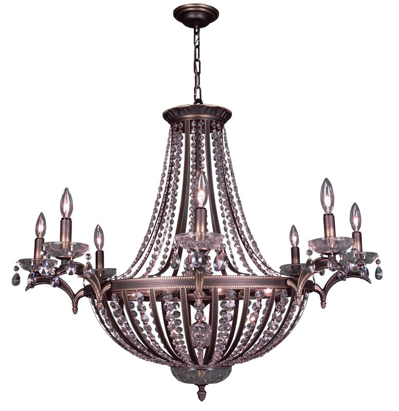 "Classic Lighting 1928-RB 32"" Crystal Chandelier from the Terragona"