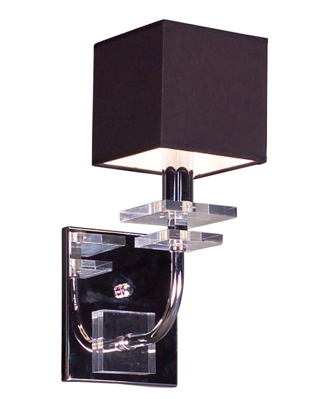 "Classic Lighting 1931-BLK 13"" Crystal Wallchiere from the Quadrille"