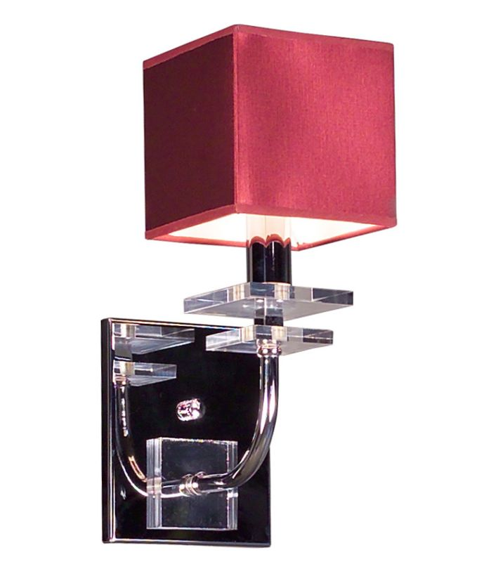 "Classic Lighting 1931 13"" Crystal Wallchiere from the Quadrille"