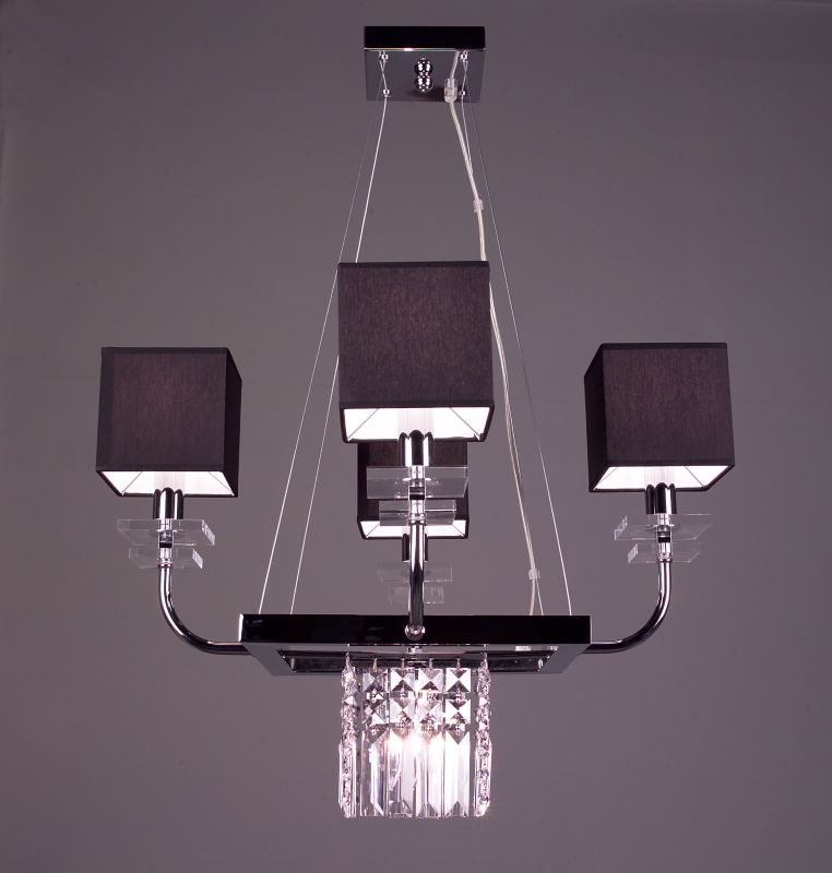 """Classic Lighting 1934-BLK 20"""" Crystal Chandelier from the Quadrille"""