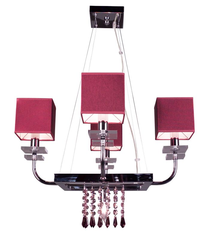 """Classic Lighting 1934-BUR 20"""" Crystal Chandelier from the Quadrille"""