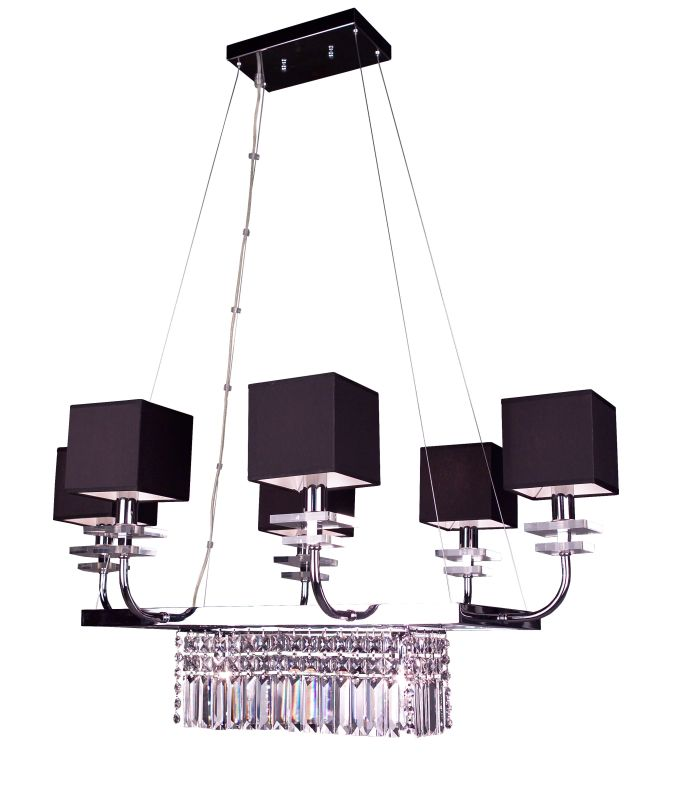 """Classic Lighting 1936-BLK 20"""" Crystal Chandelier from the Quadrille"""