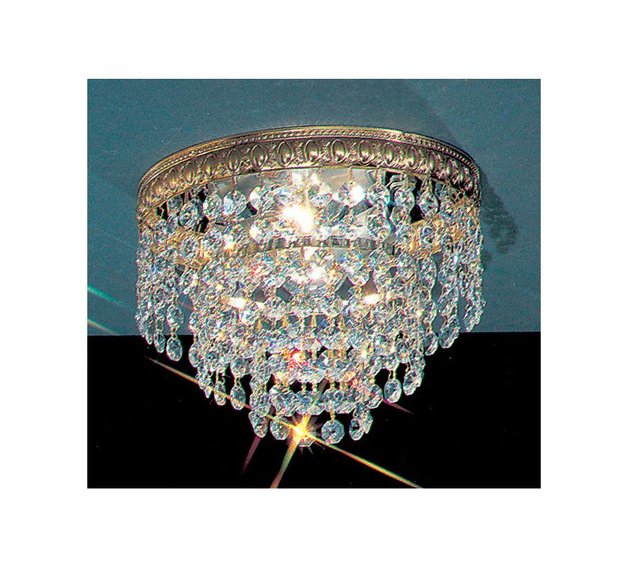 "Classic Lighting 51208-OWB 6"" Crystal Flushmount from the Crystal"