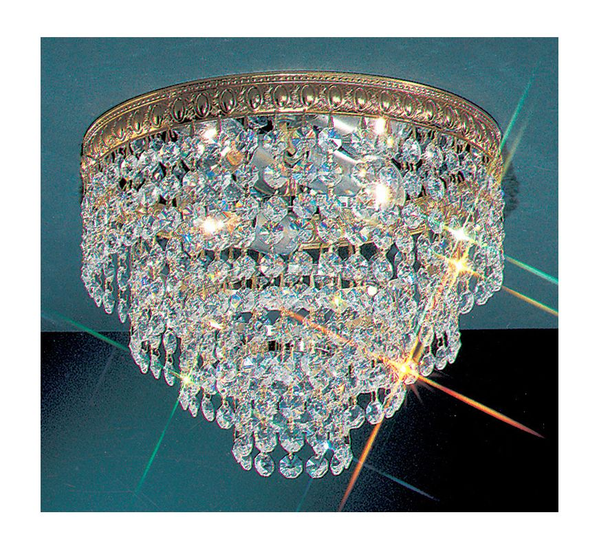 "Classic Lighting 51210-OWB 8"" Crystal Flushmount from the Crystal"