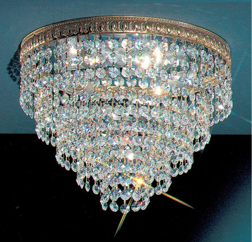 "Classic Lighting 51312-OWB 9"" Crystal Flushmount from the Crystal"